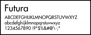 Futuraのフォントイメージ