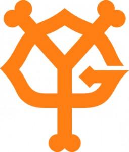 橙色ロゴ例2、読売ジャイアンツ