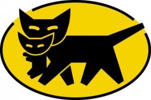 黄色ロゴ例1、クロネコヤマト