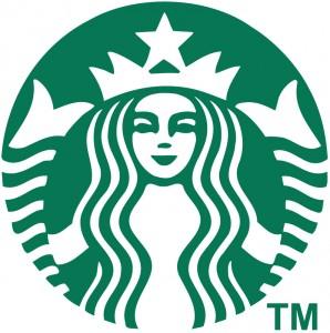 緑色ロゴ例1、スターバックス